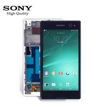 For SONY Xperia C3 LCD D2533 D2502 Touch Screen LCD Display Digitizer Sensor Glass Panel Frame For Xperia C3 LCD Display +Tools