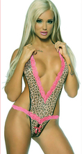 Millyn Q84 Sexy Lingerie Leopard Underwear mesh Butterfly Women's open crotch Deep V Nightwear Hot Girl Sleepwear