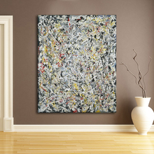 QCART Wall Painting Jackson Pollock White Light  Wall Art Picture For Living Room Home Decor Printed On Canvas No Frame