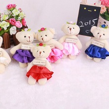 Cartoon bouquet of plush bear doll wedding present For Children's Baby Birthday Holiday Gift Send Kids Lovely Soft kid Toy