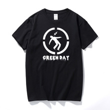 New summer fashion rock band green day t shirt top quality hip hop t-shirt men cotton Short Sleeve tshirt Casual Top tee(China)