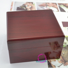 luxury red Fashion wood watch box with pillow package case wristwatches boxes Jewelry storage gift Display High Qaulity