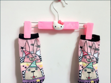 Kawaii Hello Kitty Plastic Home Clothes Rack Clothing Rack Hanger Best For Underwear Sock