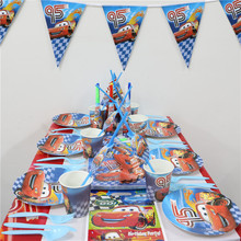112pcs\lot Cars Flags Kids Favors Cups Decoration Paper Plates Napkins Baby Shower Dishes Birthday Party Tablecloth Supplies
