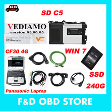 Professional MB Star C5 with software SSD 2017.05 Version DTS Vediam Xentry and DAS With Laptop CF30 FOR Benz cars SD Connect C5