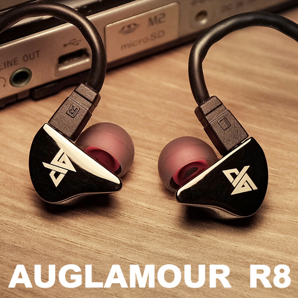 Original AUGLAMOUR R8 HIFI Super Bass In Ear Earphones Ear Hook Metal Earphones Upgrade HIFI Earbuds DIY Headset<br>