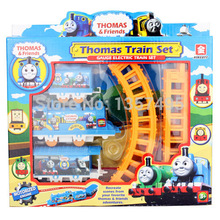 On Sale Electric small the Thomas and his friends children train toy pathway rail car for kids tru boy models coches de juguete(China)