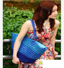 40x29CM Export Italian Classic French Style Three-color Sequins Graffiti Bag A2856