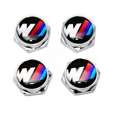 KUNBABY 4PCS Car Styling Thread License Plate Frame Bolts Screws M Power Chrome Universal for BMW X5 X6 X3 E46 E39 E60 E90(China)
