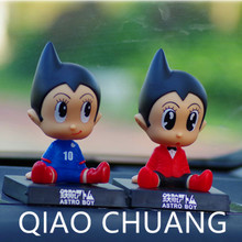 Astro Boy Cute Cartoon Shaking His Head Doll Automobile Vehicle Interior Beautiful PVC Action Figure Collectible Model Toy L343(China)