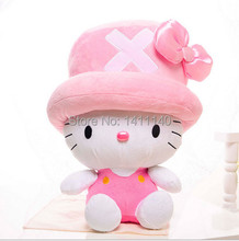 elegant pink  hello kitty wear hat hello kitty cake topper decoration wedding party birthday party gifts favors free shipping