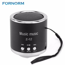 FORNORM Z12 Mini Digital Speakers Portable Rechargeable Audio FM Support SD Card for PC Music MP3 Player USB Micro Radio(China)