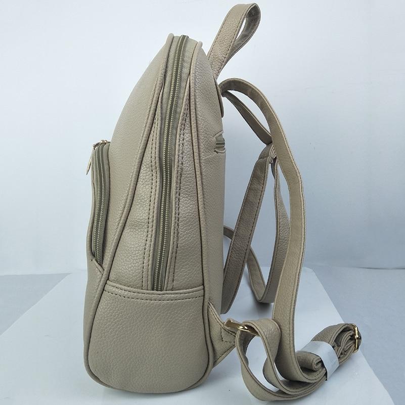 Nevenka Women Backpack Leather Backpacks Softback Bags Brand Name Bag Preppy Style Bag Casual Backpacks Teenagers Backpack Sac15