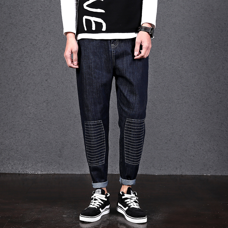 2017 new autumn winter jeans men hole causal denim pants fashion trousers black slim fitОдежда и ак�е��уары<br><br><br>Aliexpress