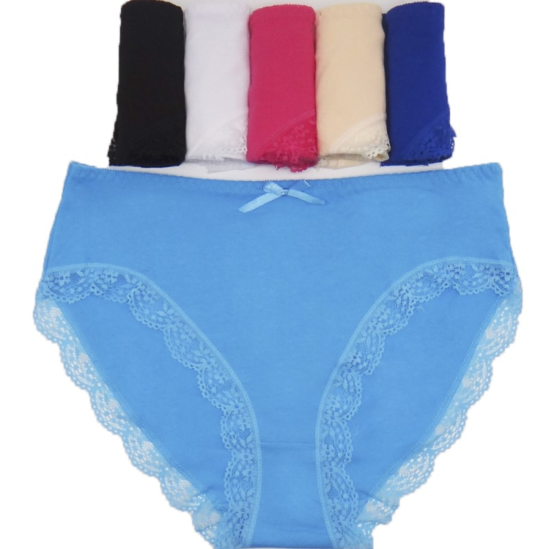 2XL 3XL 4XL 4pcs women's cotton briefs sexy mid-rise solid lace patchwork panties Ladies briefs big size women briefs underwear