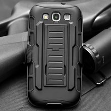 Rugged  Impact Holster Stand Hard Cover Case for Samsung Galaxy S3 I9300 / S3 Neo I9300i / S3 Duos Cell Phone Cases Coque