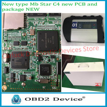 2017 New Type! MB Star SD C4 full set New PCB Board MB Star C4 SD connect C4 diagnosis compact 4 dianostic tool perfect package