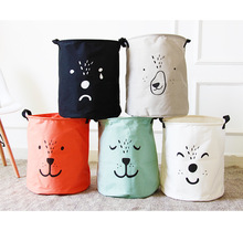 Large Laundry Hamper Bag Cartoon lovely Clothes Storage Baskets Home clothes barrel Bags kids toy storage laundry basket(China)