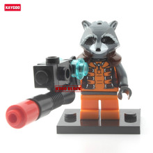 Kaygoo Single Sale Marvel  Guardians of the Galaxy action figures Rocket Raccoon Building Block Figures Gamora Kids Toys Gift