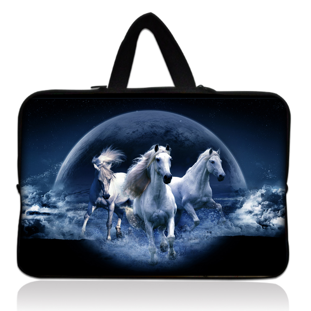 17 Horse Soft Neoprene Laptop Sleeve Bag Case Pouch+ Hide Handle For 17.3 HP Pavilion DV7 E17 G7 /Dell Alienware M17x<br><br>Aliexpress
