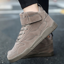 Buy XX Men Ankle Boots High Top Sneakers Soft Leather Fashion Flat Lace-up Martin Boots Men Casual Shoes Autumn Winter Black Red for $20.31 in AliExpress store