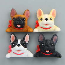 Creative Dog With Tie 4.2cm Miniature Toys #2822 Action Figure Brinquedo Toy Fridge Magnet Kids Birthday Gift