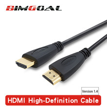 HDMI Cable video cables gold plated Male hdmi splitter 1.4 1080P 3D Cable for HDTV 0.5m 1m 1.5m 2m 3m 5m 10m 12m 15m 20m(China)