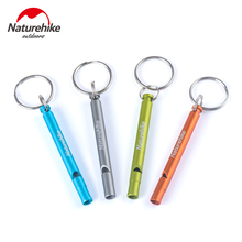 Naturehike Aluminum Survival Whistle Train 4 Colors Length 7cm Cheerleading Camping Safety Escape Accessory Outdoor Tool(China)