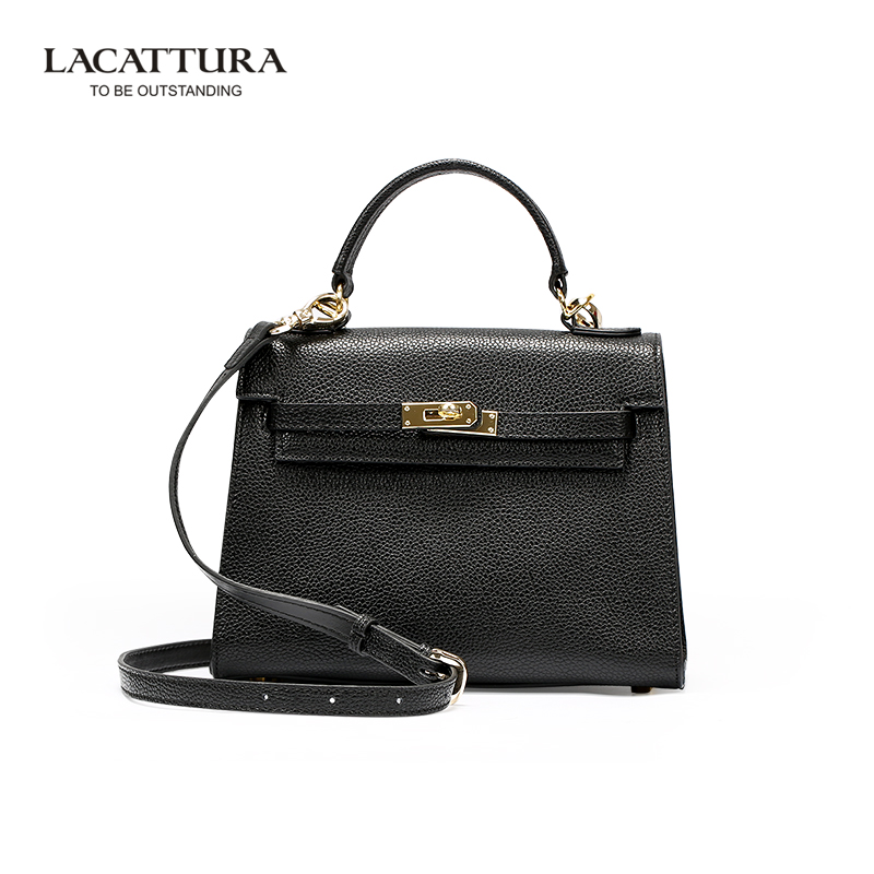 LACATTURA Genuine Cowhide European and American Style Women Shoulder Messenger Bag Fashion Classic Tote Handbags For Female<br><br>Aliexpress