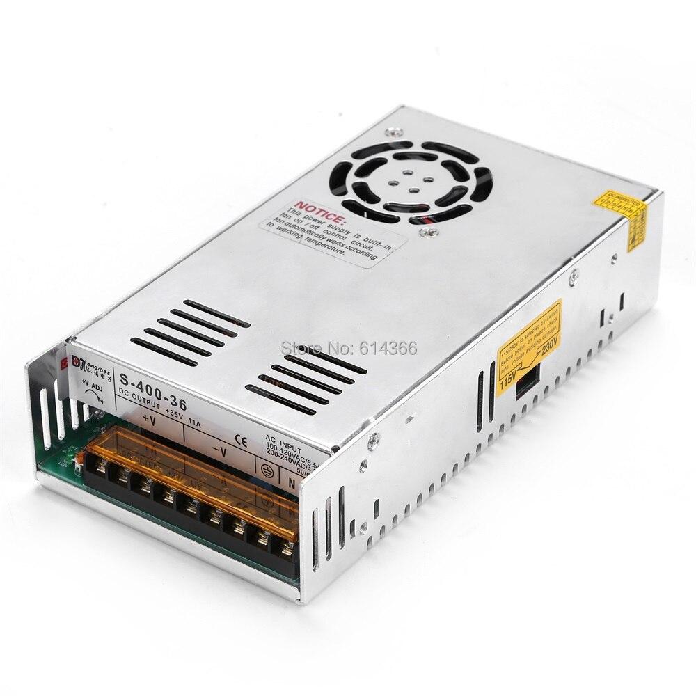 1PCS 400W 36V power supply 36V11A LED Driver 36V 11A power supply 400W S-400-36 90-264VAC INPUT<br>