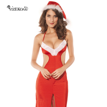 2017 New Arrival Hot Sales Fashion Santa Costumes Sexy Mrs Claus Christmas Gown Clothes Women Cosplay Costumes Club Party LC7188