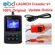 2017 Original Launch Creader V+ OBDII Diagnostic Scanner Launch X431 Pro Mini Creader V Auto Code Reader Support Update Online(China)