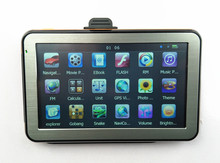 "Hot-sale 5"" Touch Screen  Car GPS Navigator CPU800M 128M/4GB+FM Transmitter+Free latest maps"