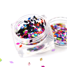 HOT SALE 1bottle New Design Nail Art Decorations Rhombus Paillette Nix Color Glitter Nails Glitter 3D Slice Powder SAND296