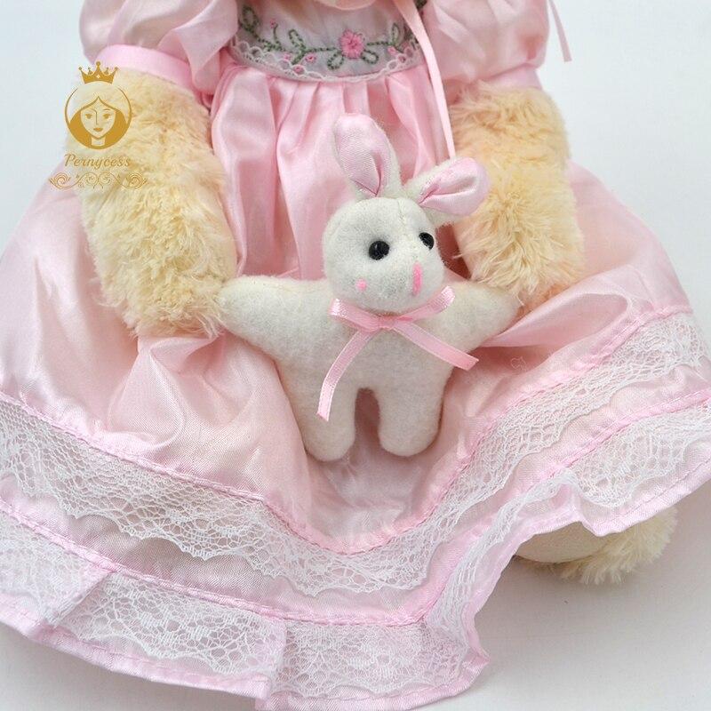 5-1PCS-30CM-cute-teddy-bear-wearing-a-skirt-plush-stuffed-toys-plush-dolls-kids-role-playing