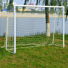 JETTING 1Pcs Hot Football Soccer Goal Post Net Full Size Sports Match Outdoor Training Practice Junior Poly Fiber Wholesale