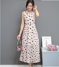 2017 new arrival girls casual slim elegant lace quality dresses women's Korean design summer pink dress dot cloth size L M #L315(China)