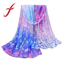Feitong Fashion Silk Scarf Women New Design Printed Soft Chiffon Shawl Wrap Wraps Brand Scarf Scarves echarpes foulards femme(China)