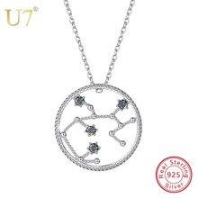 U7 925 Sterling Silver Sagittarius Zodiac Necklaces  Pendants Constellation  Jewelry Accessories For Men Women Birthday Gift SC79 6566cc108b47