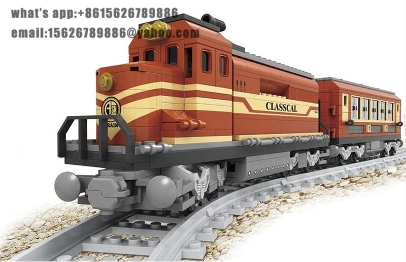 Ausini building block set compatible with lego transportation train 016 3D Construction Brick Educational Hobbies Toys for Kids<br>