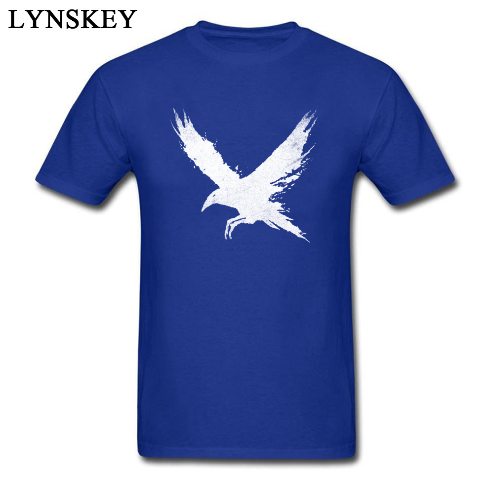Cotton T-Shirt,Funny Blue Bird with Big Eyes Fashion Personality Customization