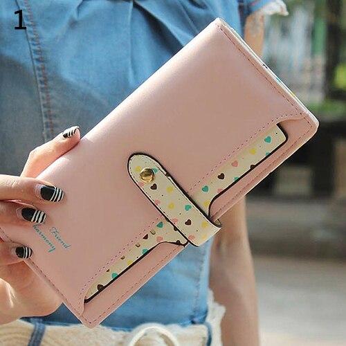 Womens Faux Leather Long Hasp Clutch Wallet Card Purse<br><br>Aliexpress