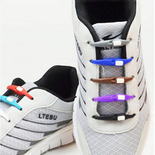 10Pc No Tie Lazy Adults Kids Silicone Shoes Tie Buckle Shoelaces Elastic Silicone Shoe Lace All Sneakers Fit Strap Cordones