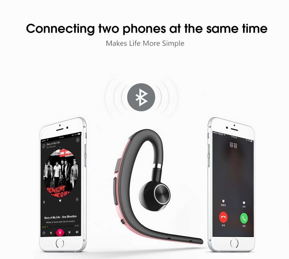 Lymoc Upgrade Y3+ Bluetooth Earphone Handsfree Ear Hook Wireless Headsets V4.1 Noise Cancelling HD Mic Music For iPhone Huawei 12