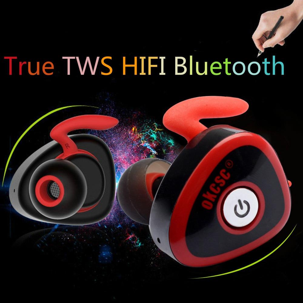 Mini Twins True Wireless Stereo Bluetooth Earphones CSR 4.1 Handsfree Headset Bass TWS Earbuds for IPhone 7 Xiaomi  PK Q29<br>
