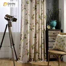 DIHIN 1 PC Garden Jacquard Curtain 3 COlors Cloth Curtains Cortina For Living room Bedroom Kitchen Shade Window Treatment Blinds