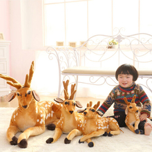 1 pc 30-50cm Simulation Deer Plush Toy Staffed Sika Deer Toy for Kids Baby Doll Children's Birthday Gift
