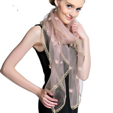 Eugen Yarn Scarf Lace Scarf Female Mulberry Silk Shawl Fashion Long Towel Spring and Autumn Winter(China)