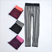 2016 Women Sexy Cropped Leggings High Waist Elastic Black Pants Force Exercise Female Super Stretchy Slim Trousers