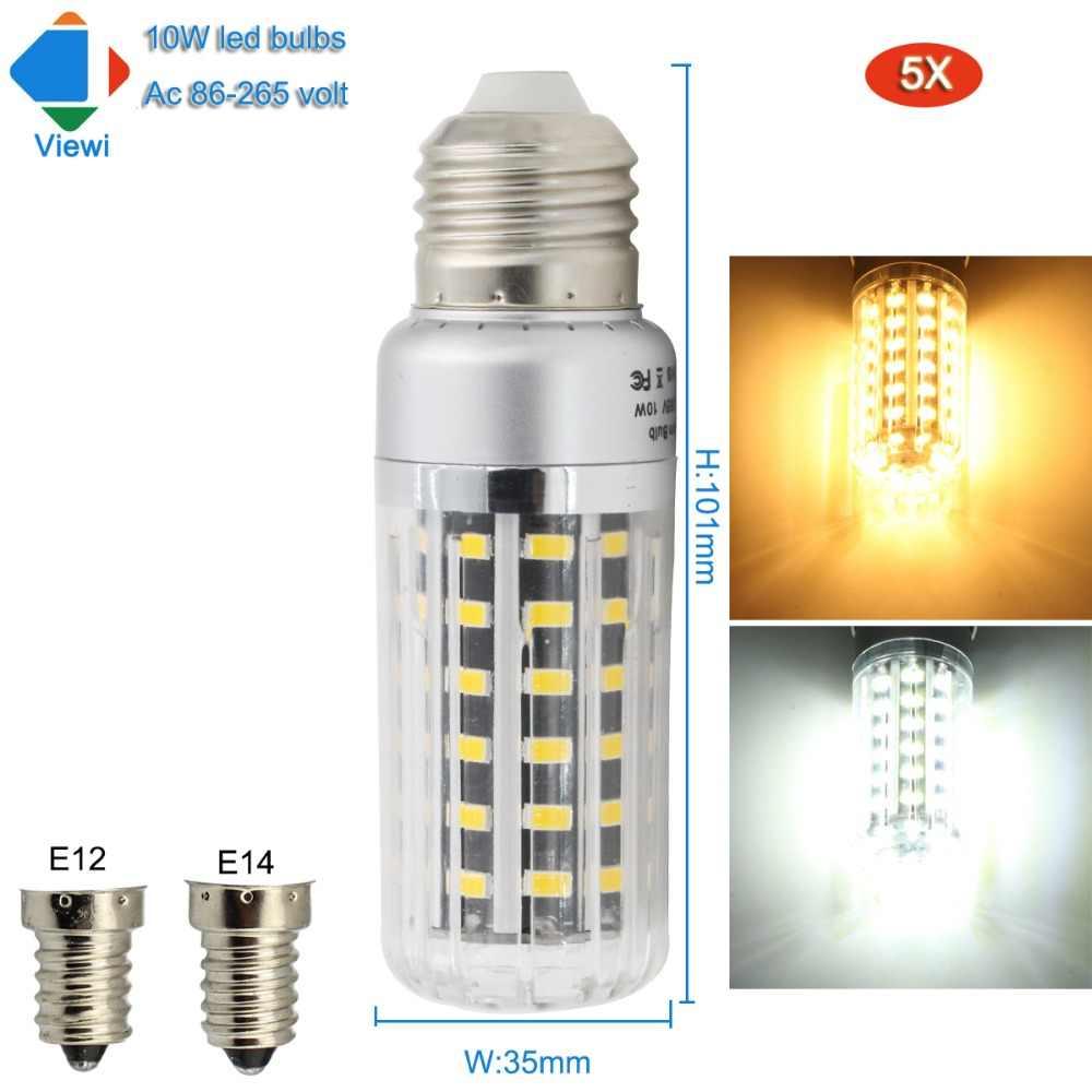 Detail Feedback Questions About E27 Led Lamp E14 Bulb Smd5730 Ultra Bright For Ac230v Viewi 5x E12 10w Super Aluminum Light Corn Bulbs 110 220